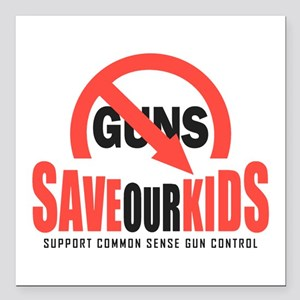 "Save Our Kids Square Car Magnet 3"" x 3"""
